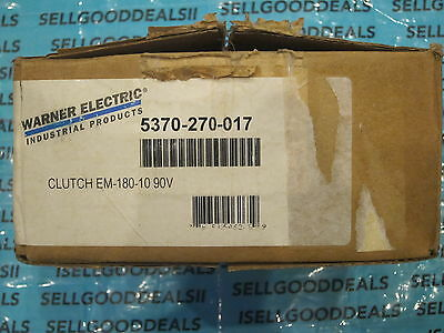 Warner Electric EM-180-10 90V Clutch 5370-270-017 EM18010 5370270017 New