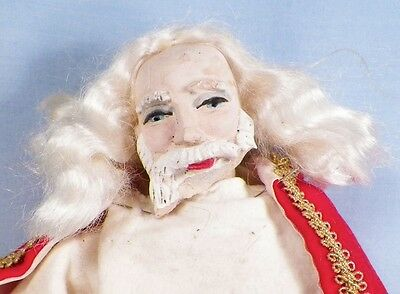 Vintage St Nicholas Bishop Pope Doll Resin Face Cloth & Wire Body AS IS HELP