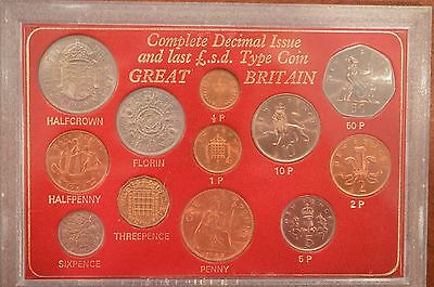Great Britain Complete Decimal Issue Coin Set