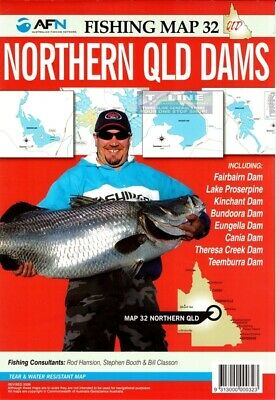 AFN Fishing Maps Northern QLD Dams (QLD) Map 32 Tear & Water Resistant Map