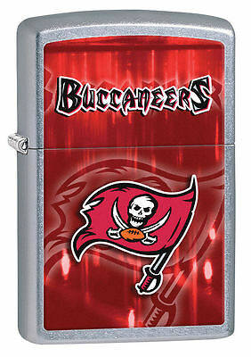 Zippo Street Chrome Lighter With Tampa Bay Buccaneers Logo,  28589, New In Box