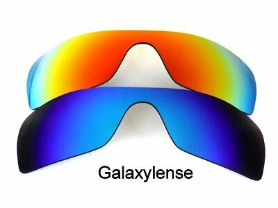 Galaxy Replacement Lenses for Oakley Batwolf Blue&Red Polarized 100%UVAB 2 PAIRS