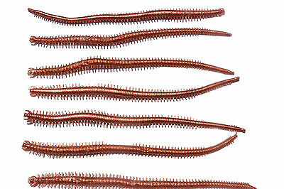 10pcs 6inch Worm Soft Plastic Fishing Lures BROWN Bream Flathead Bass Lure Grub