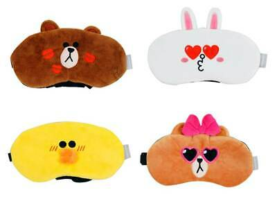 Line Friends Sleep Mask Eye Shade Brown Cony Sally Boss Take Nap Cute zzzs shut
