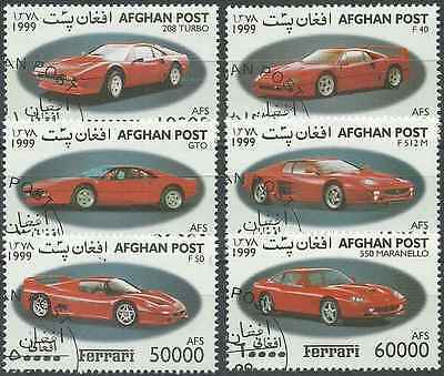 Timbres Voitures Ferrari Afghanistan Lot A o (6688)