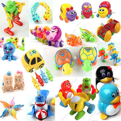 1x New Children Kids Funny Plastic Clockwork Wind Up Party Toy