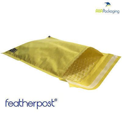 200 Mailing Envelope Bags Gold E/2 220 x 265 mm Bubble Lined