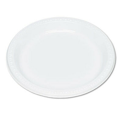 """500 Tablemate Plastic Dinnerware, Plates, 9"""""""" dia, White - TBL9644WH"""