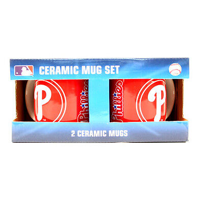 Philadelphia Phillies 11-Ounce Sculpted Mug, Twinpack