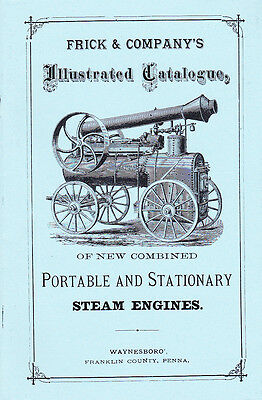 1875 - FRICK & Co. Steam Engines - 1875  -Catalog NEW reprint