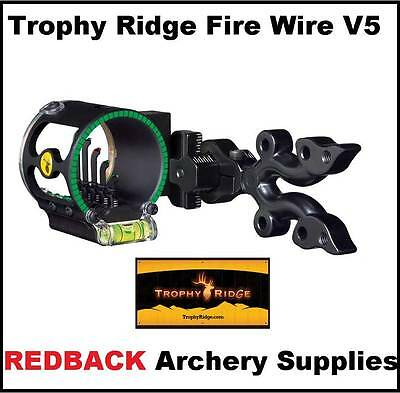 Trophy Ridge Firewire V5 fibre  pin sight for compound bow hunting archery