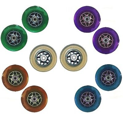 """Scooter Wheels Stunt Core Replacement Colours Rollers Skate 4"""" 100mm Pair Trendy"""