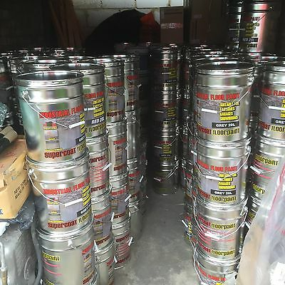 GREY Supercoat Industrial Garage Floor Paint 20 Lt Cheapest Prices