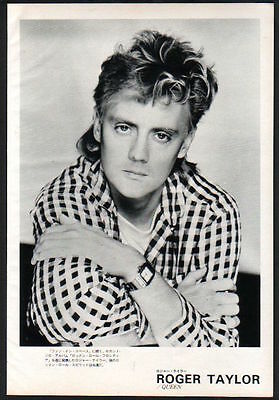 1984 Roger Taylor JAPAN mag  photo pinup mini poster /vintage clipping queen r8m