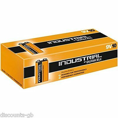 4 x Duracell Industrial 9V Batteries Loose Alkaline / Procell Plus(1604 /6LF22)