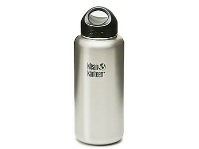 Klean Kanteen Wide Mouth 1182Ml Bottle With Stainless Loop Cap (Brush Stainless)