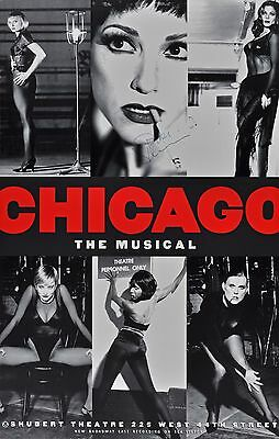 Chicago Broadway Window Card Signed By Bebe Neuwirth