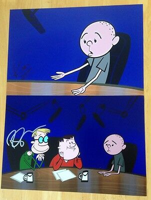 Ricky Gervais & Karl Pilkington Signed Photos With Letter Of Guarantee