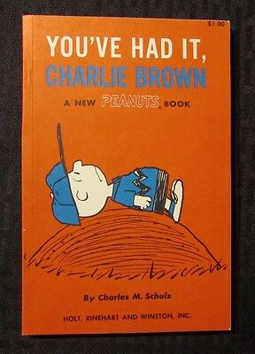 1969 You've HAd It Charlie Brown Charles M Schulz SC NM 1st Holt Reinhart