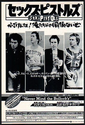 1977 Sex Pistols Never Mind The JAPAN columbia records promo ad / advert s11m