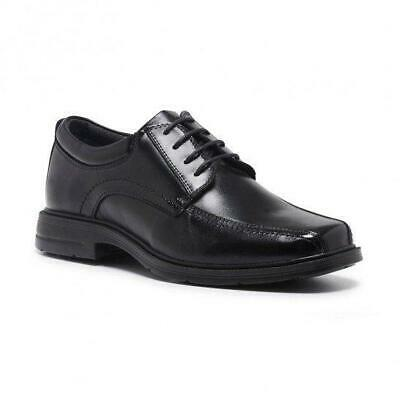 Mens Hush Puppies Rochester Extra Wide Men'S Leather Work Black Lace Up Shoes