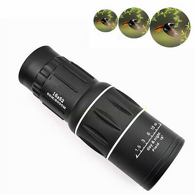 Day & Night Vision 16x52 HD Optical Monocular Lens Armoring Monocular Telescope