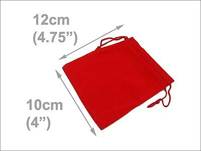 """LOT OF 100 RED VELVET JEWELRY POUCHES BAG 4"""" x 4.7"""" inches"""