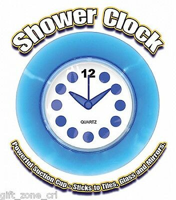Ultimate WATERPROOF SHOWER CLOCK Quartz Battery Powered - SUCTION CUP