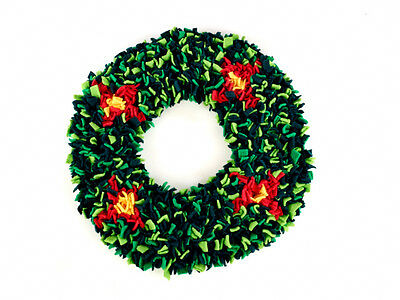 Proggy Mat 30cm Christmas Wreath Rag Rugging Kit