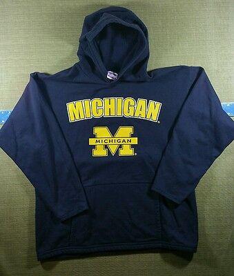 NCAA University of Michigan Wolverines Hoodie Size Large