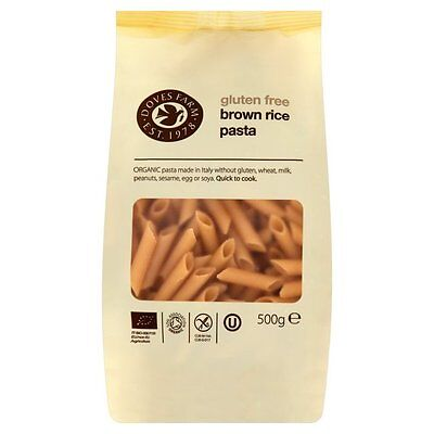 Doves Farm ORGANIC Gluten Free Brown Rice Penne PASTA * 1kg (500g x 2) Fast Ship
