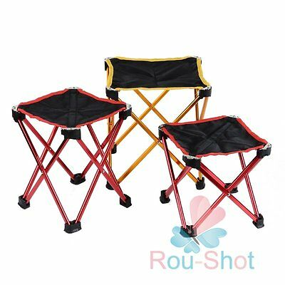 4 Legs Folding Portable Travel Chair / Stool For Outdoor Fishing Hiking Camping