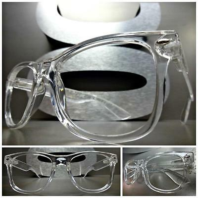 CLASSIC VINTAGE Style Lensless No Lens EYE GLASSES Clear Transparent Frame Only