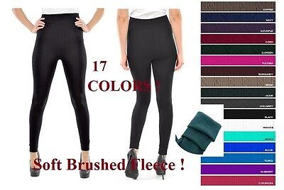 74ab74797 Women Cable Knitted Thick Warm Brushed Fleece Lined Leggings Winter Thermal