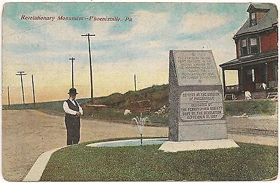 Revolutionary Monument in Phoenixville PA Postcard