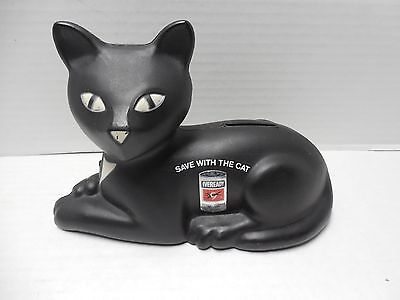 1981 Union Carbide Eveready Battery Black Cat Bank Save With The Cat