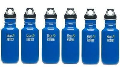Klean Kanteen 18 oz Stainless Steel Water Bottle, Box of 6