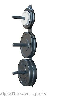 Morgan Wall Mounted Bumper Plate Rack Mount Storage Weight Plate Strength Train