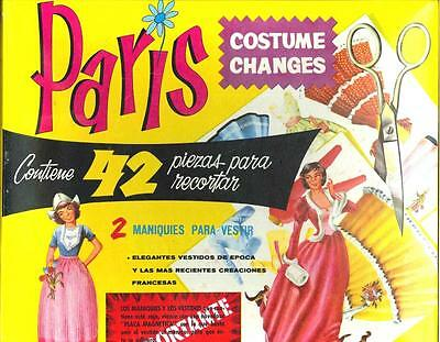 Vintge 1960S Paris Costume Change Paper Dolls ~Uncut Org Sz~Lasr Repro No1 Sellr