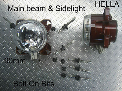 2 HYMER MAIN BEAM 90mm Headlamp/headlight 2003 to 2006 B524//575/644//680/BC655s