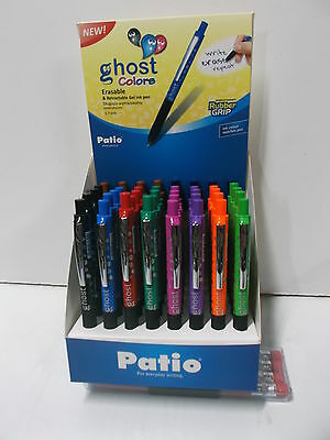 Bolígrafo de tinta borrable PATIO Ghost Colors Erasable - Lote de 40 boligrafos-