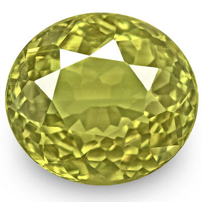 3.16-Carat VVS-Clarity Deep Yellow Green Color-Changing Alexandrite (GIA)