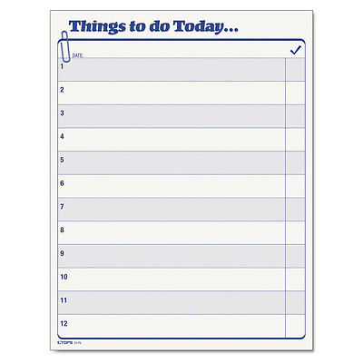 TOPS Things To Do Today Daily Agenda Pad, 8.5 X 11, 100 Forms