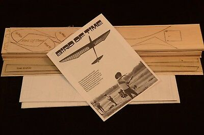 "Large Scale BIRD OF TIME Laser Cut Short Kit, Plans & Instruction. 118""WS GLIDER"