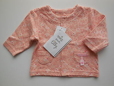NEW Max and Tilly baby girl peach lightweight cotton jacket size 0000 Newborn
