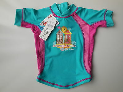 NEW Bright Bots baby girl rash top bathers UPF 50+ size 00 Fits 3-6 m RRP $32.95