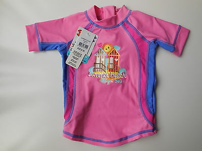 NEW Bright Bots baby girl rash top bathers UPF 50+ size 00 Fits 3-6m RRP $32.95