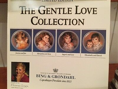 Set Of 4 Bing & Grondahl The Gentle Love Collection Plates
