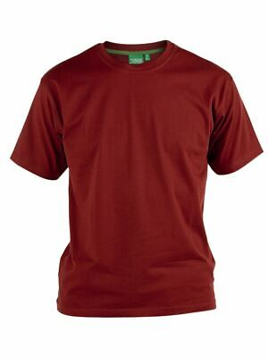 D555 Premium Weight Combed Cotton Crew Neck T-shirts in Size M to XXL, 7 Colors
