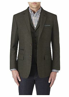 SKOPES Mens Donegal Tweed Olive Sports Jacket (Askrigg) in Chest 34-62 Inches